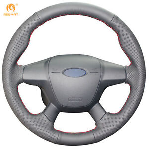 Diy Pu Steering Wheel Cover For Ford Focus 3 2012 14 Kuga Escape 2013 16 Fd09