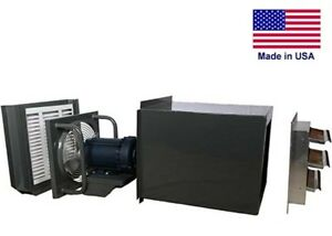 12 Filtered Exhaust Fan Tefc Direct Drive 520 Cfm 1ph 115 230v 1 4 Hp