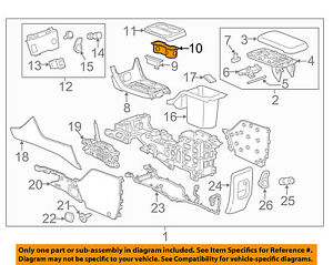 Gm Oem Center Console Cup Holder 23484410