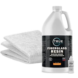 Fiberglass Repair Kit 1 Gallon Polyester Resin And 1 5oz X50x10 Yard Fiberglass