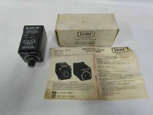 Unused Issc Plug In Industrial Solid State Timer Control Model 1017 10 1 1 a8