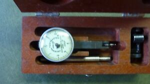 Vintage Federal Testmaster T 2 Jeweled Dial Indicator 0001 With Box
