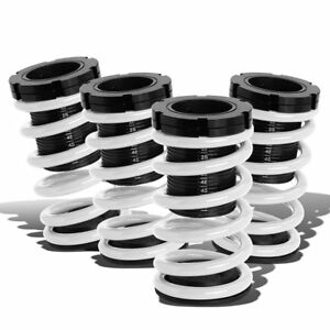 For 01 05 Honda Civic Em White Spring Black Adjustable Lowering Coilover Sleeves