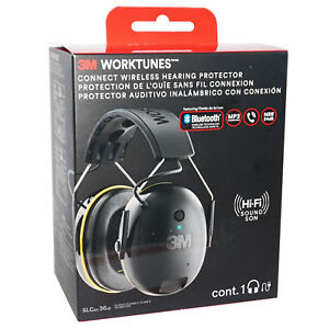 New 3m Worktunes Hearing Protector Bluetooth Hi fi Sound Ear Muff Headset Hq Nib