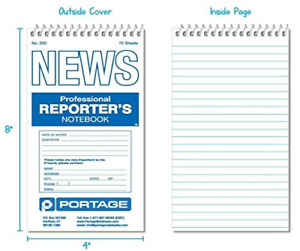 Pack Of 144 Reporter s Notebook 4 X 8 Prof Essional Spiral Notebook 140 Pages