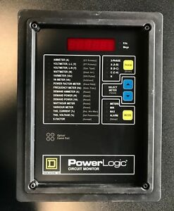 Square D Power Logic 3020 cm 2450 3020 Cm 2450 100vac 20va Circuit Monitor