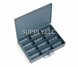 Metal Storage 12 Bins Drawer Tray Steel Parts Nuts Bolts Fasteners Screws