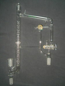 Chemglass 10 30 24 40 Joints Jacketed Vigreux Vacuum Distilling Head 21 5 H