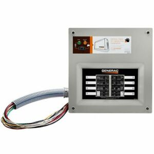 Generac 9854 50 amp Homelink Upgradeable Pre wired Manual Transfer Switch