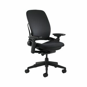Steelcase Leap Fabric Chair Black 2day Ship