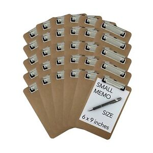 Trade Quest Memo Size 6 X 9 Clipboards Low Profile Clip Hardboa 2day Ship