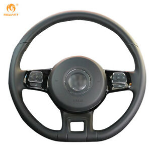 Black Leather Steering Wheel Cover For Vw Beetle 2012 2016 Up 2013 2016 Dz17