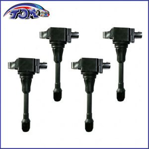 Brand New Set Of 4 Ignition Coils For Nissan Frontier Np300 Suzuki Equator 2 5l