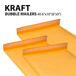 0 6 x10 6 x9 Kraft Bubble Mailers Padded Envelope Bags Yellow