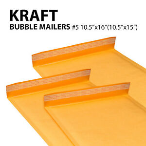 5 10 5 x16 10 5 x15 Kraft Bubble Mailers Padded Envelope Bags Yellow