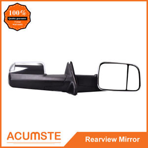 Power Heated Smoked Signal Towing Side Mirrors L r For 2009 2016 Dodge Ram 1500