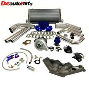 Honda Civic D Series D16 D15 Sohc T3t4 63 Turbo Kit Intercooler Bov Manifold