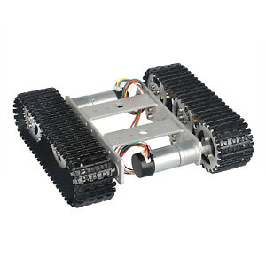 Smart Robot Tank Chassis Kit Rubber Track Crawler Vehicles For Arduino Diy Black