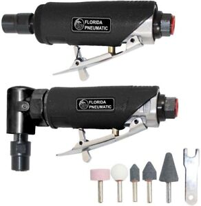 Florida Pneumatic 1 4 Inches Straight Right Angle Die Grinder Combo Kit Air