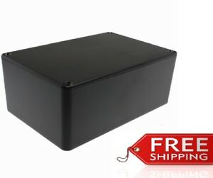 Abs Plastic Project Box Enclosure 5 89 l X 3 89 w X 2 36 h Inch In Black