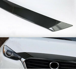 For Mazda 3 Axela 2017 2018 Auto Carbon Fiber Front Middle Upper Grille Cover