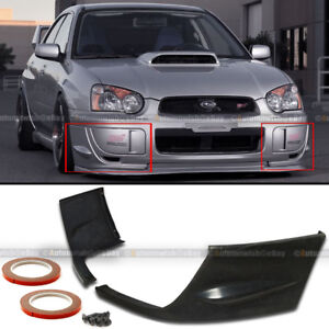 For 04 05 Gd Wrx Pair Sti Style Front Bumper Lip Cap Spoiler Splitters Covers