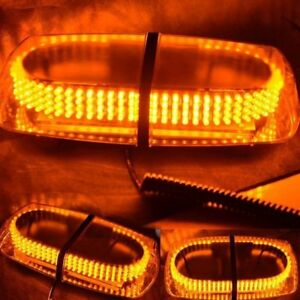 240 Led Amber Safety Emergency Flashing Strobe Light Snow Plow Tow Service Truck
