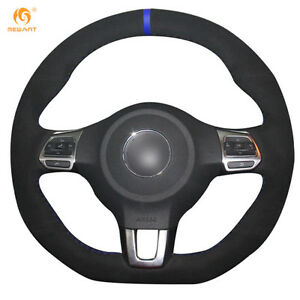Leather Steering Wheel Cover For Vw Golf 6 Gti Mk6 Polo Scirocco R Dz91