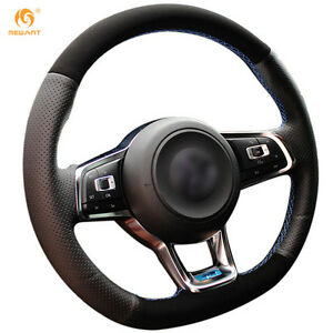 Suede Steering Wheel Cover For Vw Golf 7 Gti Golf R Mk7 Polo Scirocco dz73