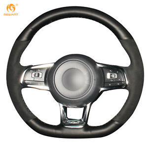Leather Suede Steering Wheel Cover For Vw Golf 7 Gti Golf R Polo Scirocco dz72