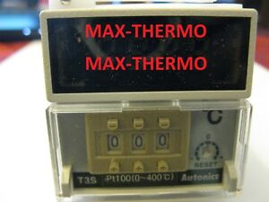 New Autonics T3s b4rp4c n Temperature Controller Pt 100 Relay Output 0 399