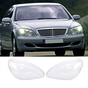 Left Right Headlight Lens Cover For Benz W220 S600 S500 S320 S350 S280 98 05