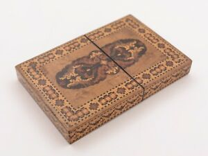 Victorian Tunbridge Ware Card Case Circa 1880