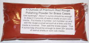 4 Oz. Premium Red Rouge for Brass Case Polishing