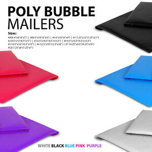 All Sizes Poly Bubble Mailers 000 00 0 cd 1 2 3 4 5 6 7
