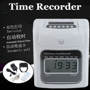 Office Employee Attendance Time Clock 50 Card Payroll Recorder 2 Color Print New