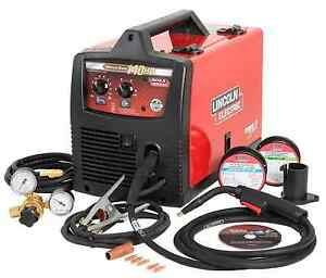 Lincoln Electric Mig Wire Feed Welder 140 Amp Weld Pak Flux Wire 115v Magnum Gun