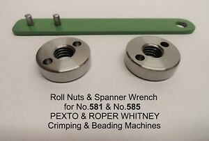 2 Roll Nuts Spanner Wrench For Roper Whitney Pexto Rotary Machines