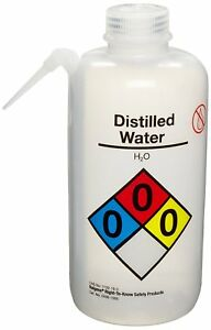 Nalgene 2436 0505 Vented Unitary Right to know Wash Bottle Distilled Water 500
