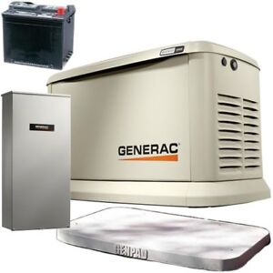Generac Synergy 20kw Variable Speed Standby Generator 200a Service Di
