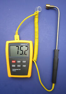 Digital K type Thermometer With High Temperature Surface Probe Sensor Dm6801sf 1
