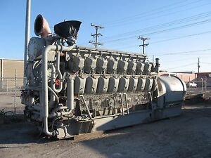 2000kw 1976 Alcoa 251e16gs Generator Set 900 Rpm 11 500 Volts