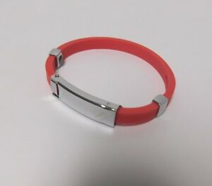 Anti Static Titanium Lonic Magnetic Bracelet Adjustable Red silver X7