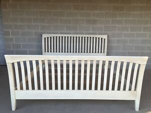 Ethan Allen King Size Slatted Sleigh Bed Model 24 5606h Shipping Available