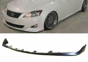 Oe Style Ground Effect Pu Black Poly Front Bumper Lip For 06 08 Lexus Is250 Is35