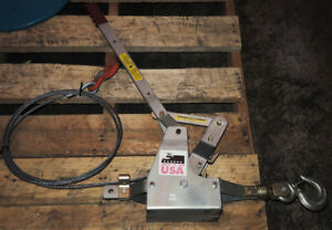 Maasdam Pow r pull 6000s Come Along Cable Puller Capacity 3 Ton New