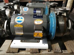 Goulds bri 1x2x6 Stainless Steel Pump With Baldor Jmm3212t Three Phase Motor