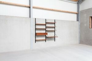 Danish Teak Wall Unit By Poul Cadovius For Royal System Vintage Mid Century