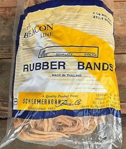 2 Boxes Of 50 Bags Each Rubber Bands Size 32 Natural