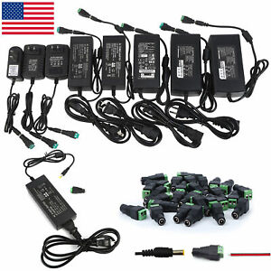 Us 12v 1 2 3 5 6 8 10a Power Supply Ac To Dc Adapter For 5050 3528 Rgb Led Strip